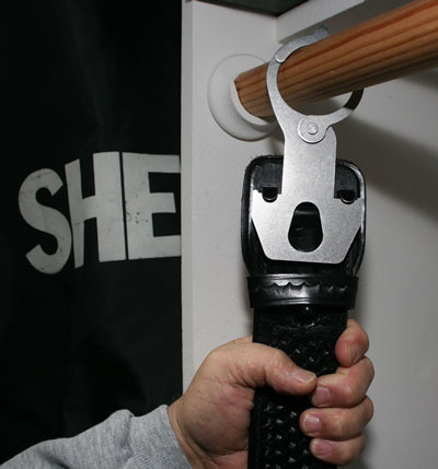 gun belt hanger